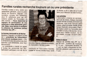 ARTICLE OUEST FRANCE 2 site